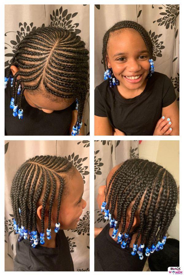 Kid hairstyles for natural hair Braids Cornrows 011