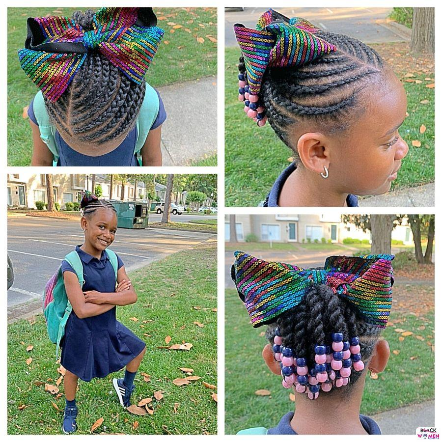Kid hairstyles for natural hair Braids Cornrows 012