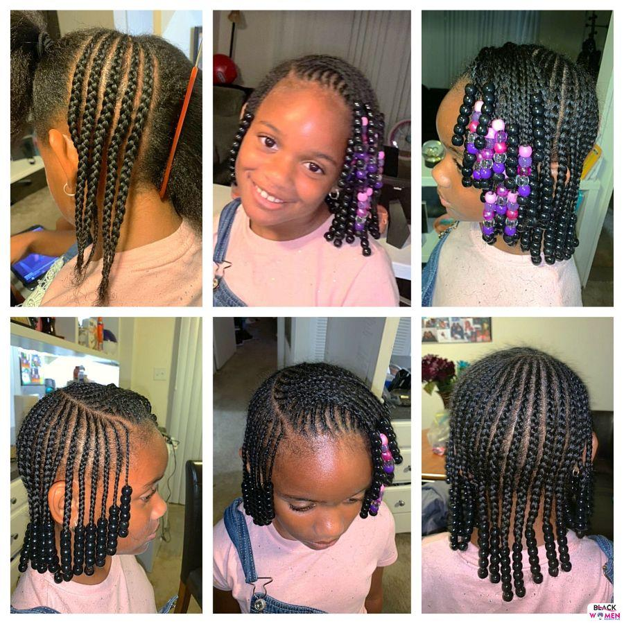 Kid hairstyles for natural hair Braids Cornrows 013