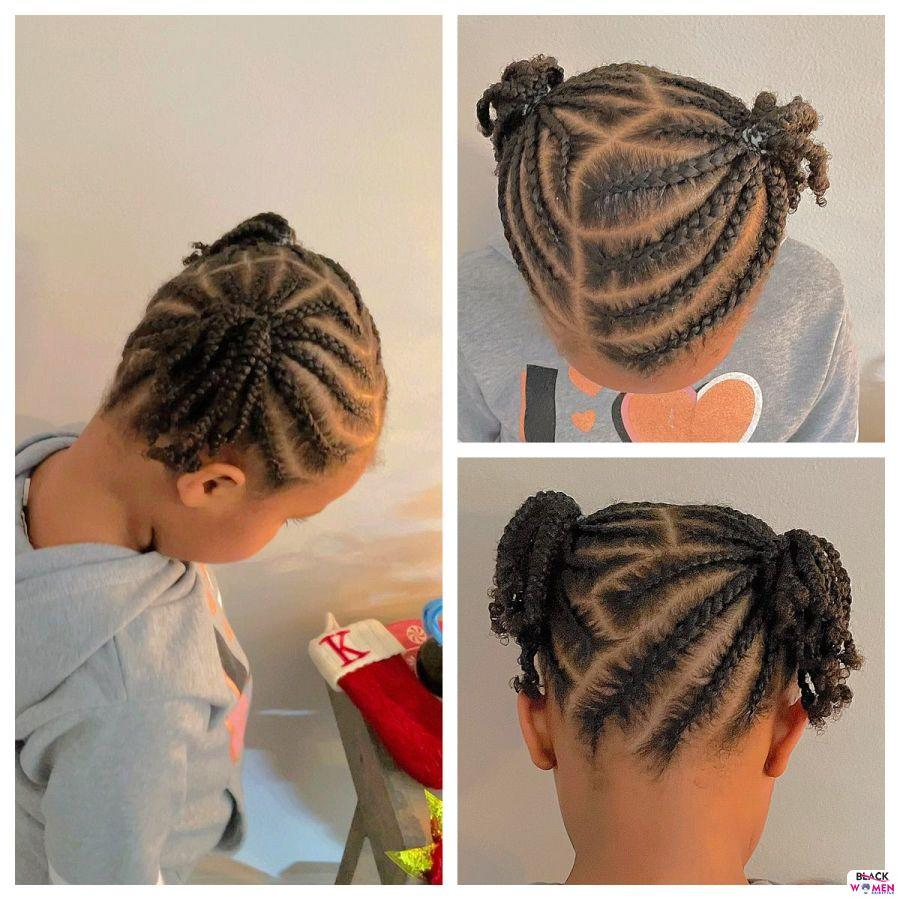 Kid hairstyles for natural hair Braids Cornrows 014