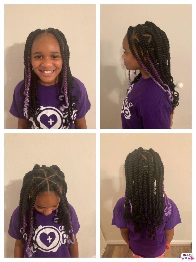 Kid hairstyles for natural hair Braids Cornrows 015