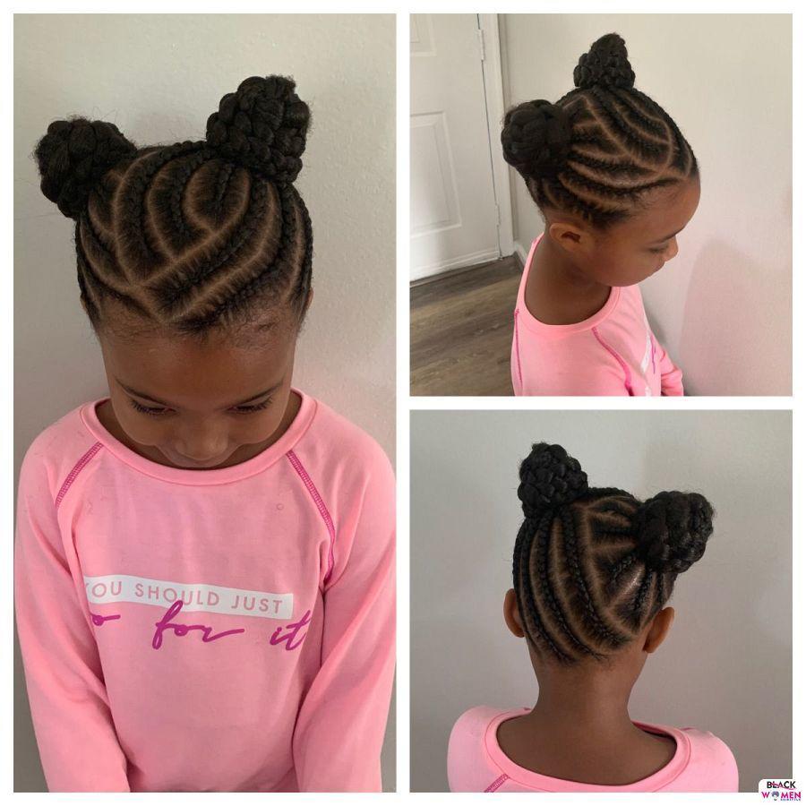 Kid hairstyles for natural hair Braids Cornrows 016