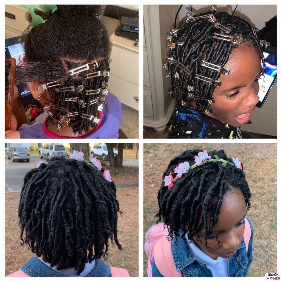 Kid hairstyles for natural hair Braids Cornrows 017