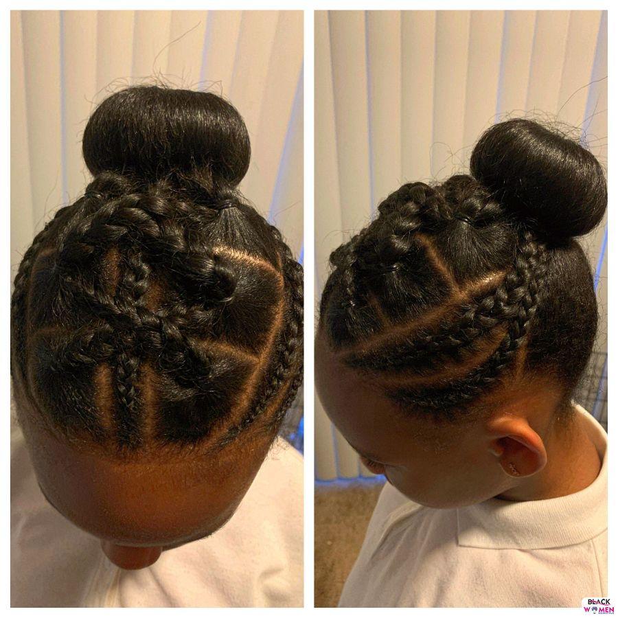 Kid hairstyles for natural hair Braids Cornrows 018