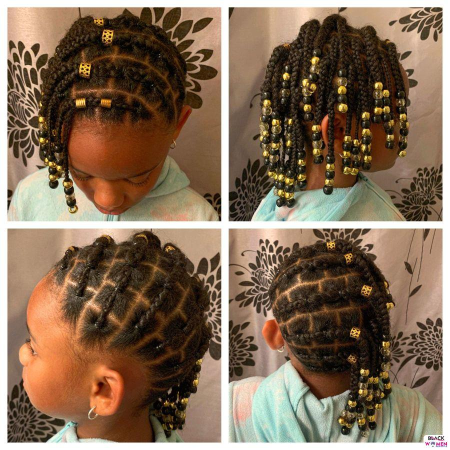 Kid hairstyles for natural hair Braids Cornrows 019