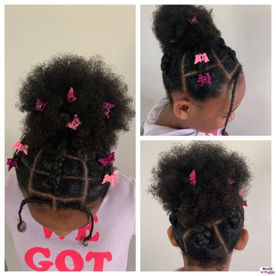 Kid hairstyles for natural hair Braids Cornrows 020