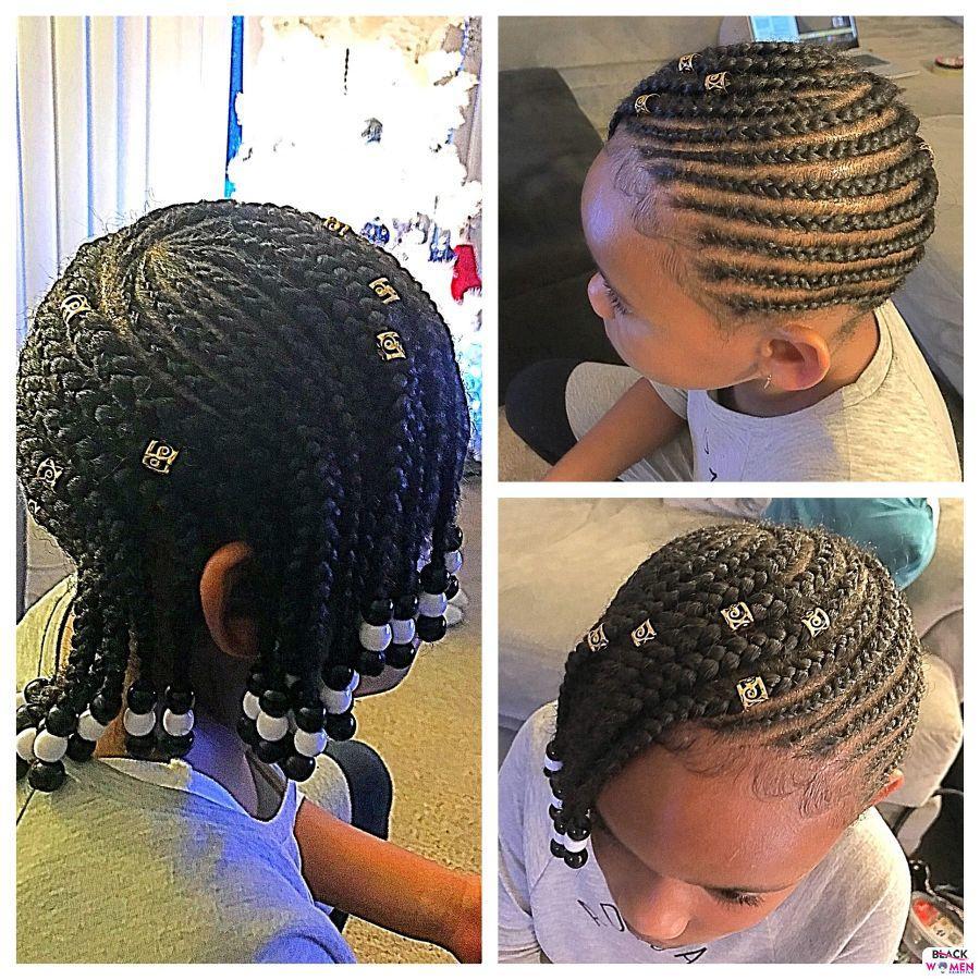 Kid hairstyles for natural hair Braids Cornrows 021