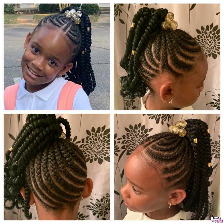 Kid hairstyles for natural hair Braids Cornrows 023