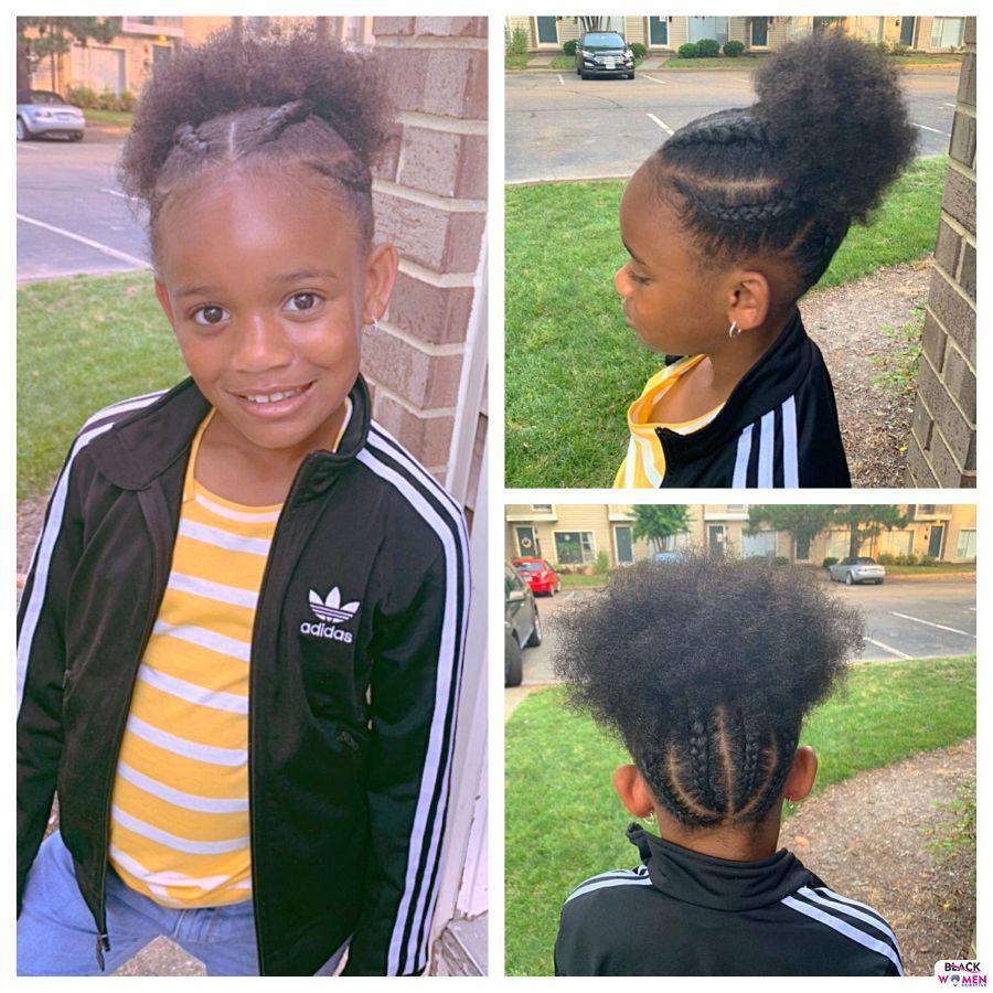 Kid hairstyles for natural hair Braids Cornrows 024