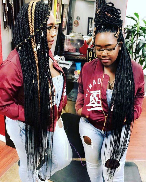 Knee length box braids WomensHairstylesUndercut