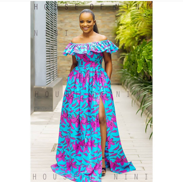 Latest Ankara Long Gown Styles 2018