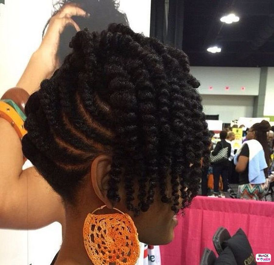 Natural hairstyles for black women 085