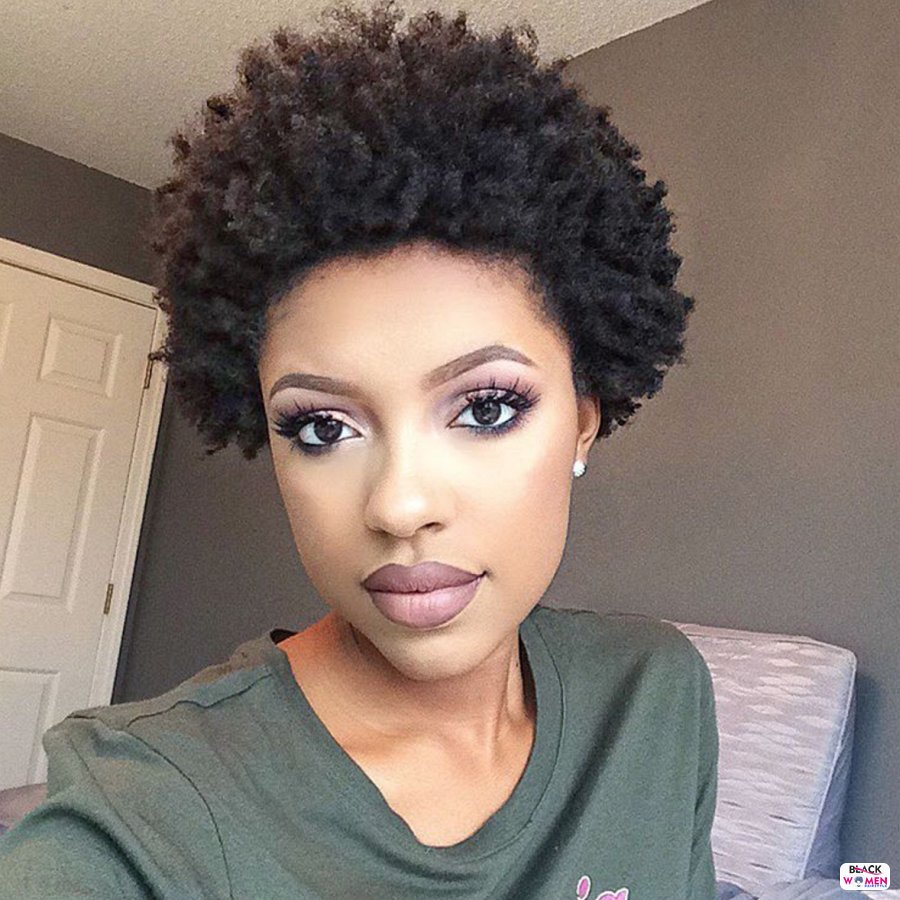 Natural hairstyles for black women 152