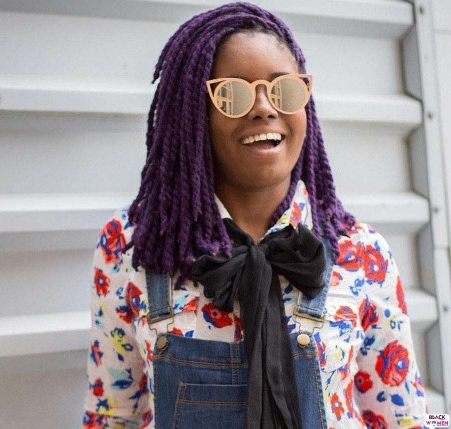 thebaydiangirl purple short yarn braids copy