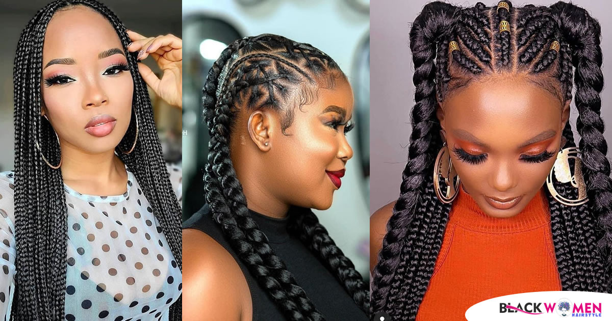 Black Braided Hairstyles 2021 African Beautiful Attractive Styles