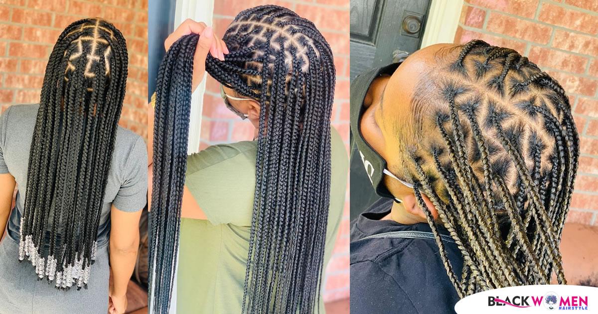 Cute Braids & Ghana-weaving Hairstyles For Ladies in 2021