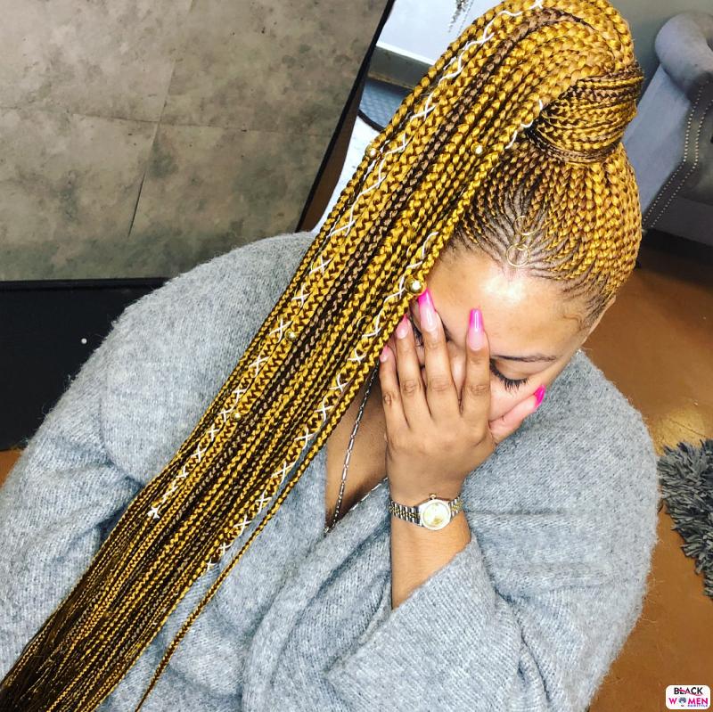 Latest Braids Hairstyle For Ladies 2021 Beautiful Braids 004