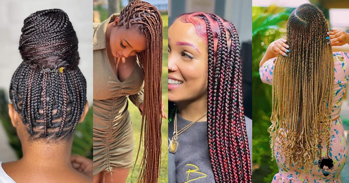 50 PHOTOS: Inspiration Hairstyle Protective Braids Style Twist Style