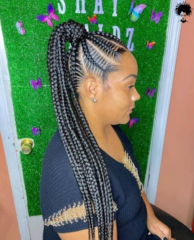 104 Box Braided Hairstyles That Everyone Will Admire 012