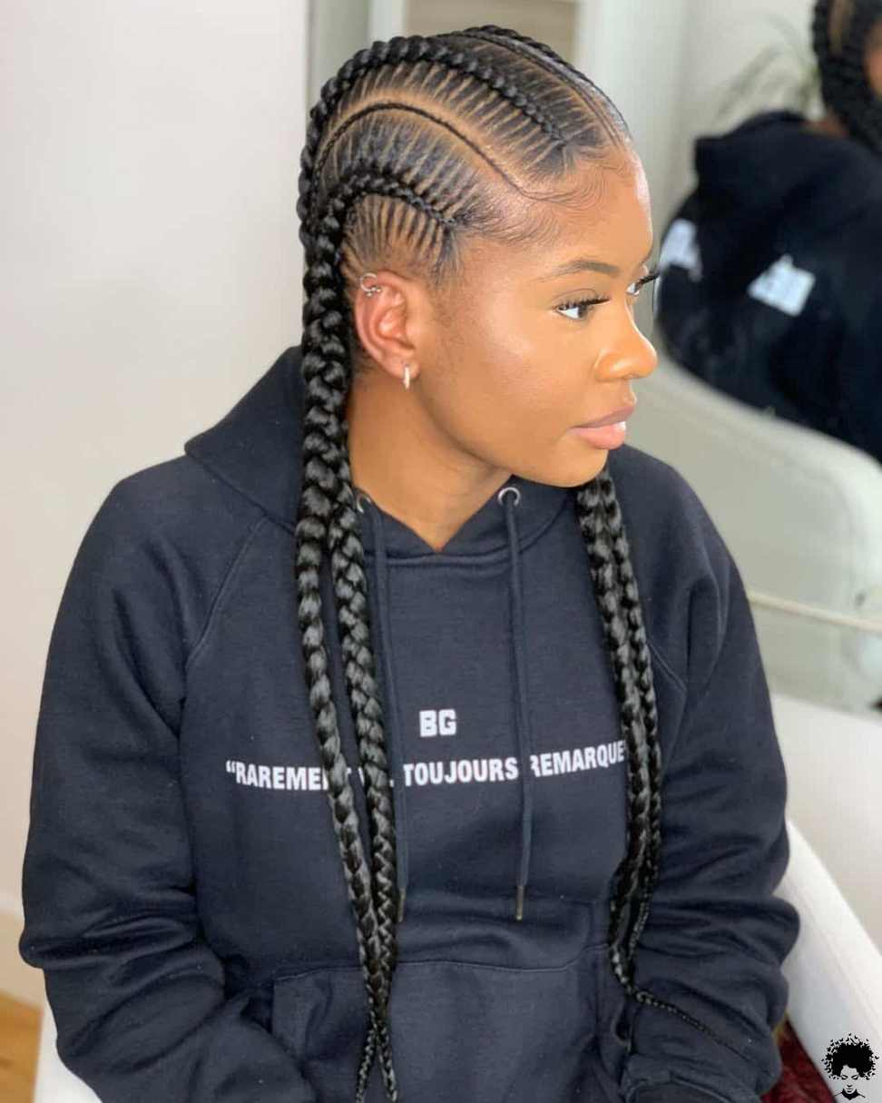 How One Should Use Long Ghana Braids in 2021 034