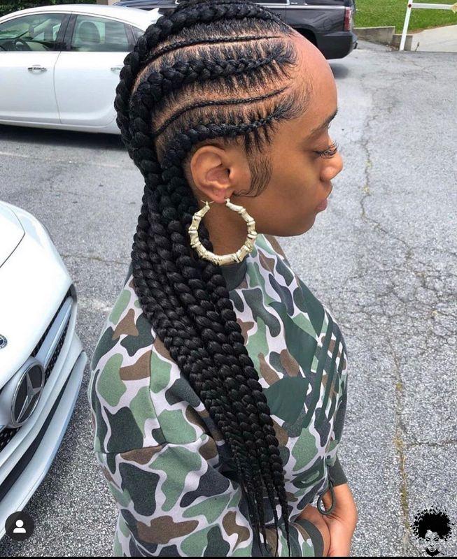 Latest Ghana Weaving Styles 2021 Beautiful Braids You Will Love 009
