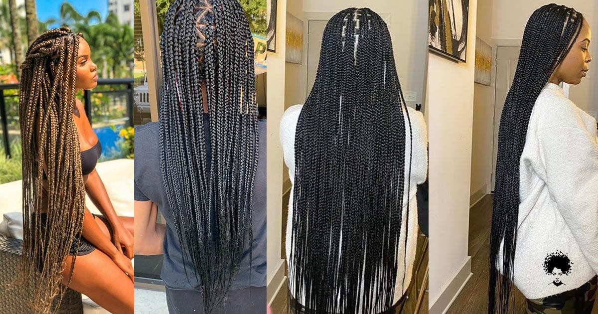 2021's Trendiest Braids For The Long-haired African Woman