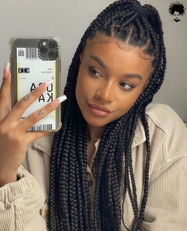 2021s Trendiest Braids For The Long haired African Woman026