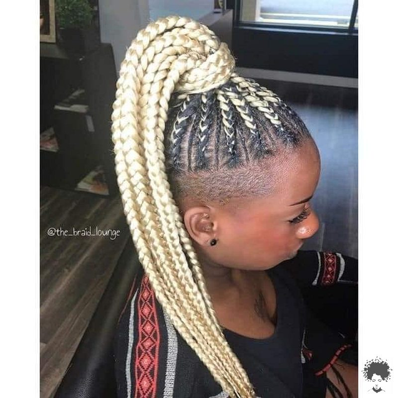 35 Gorgeous African Hair Braids to Spice Up Parties 08
