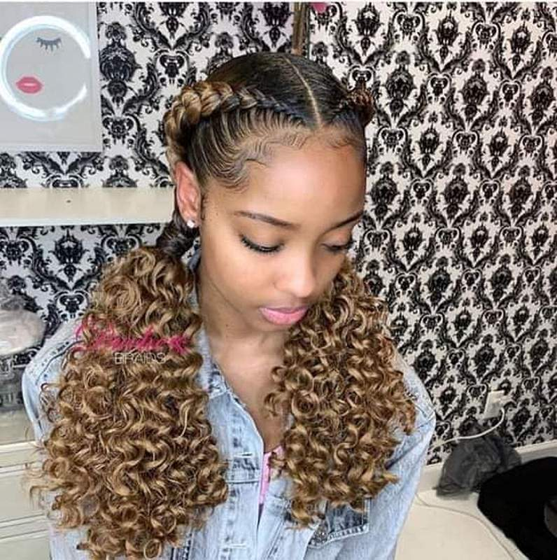 Would You Like To See Curly Hair And Braids Together 2021 022