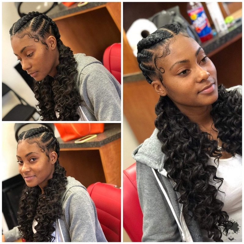 Would You Like To See Curly Hair And Braids Together033