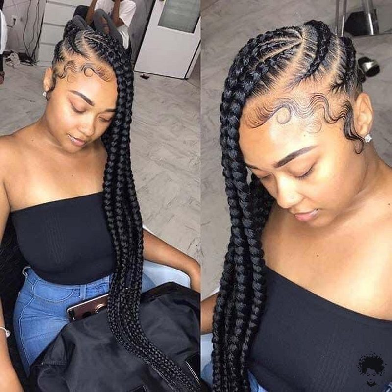 20 Gorgeous Ghana Hair Braids For Those Who Love Open Braids 04