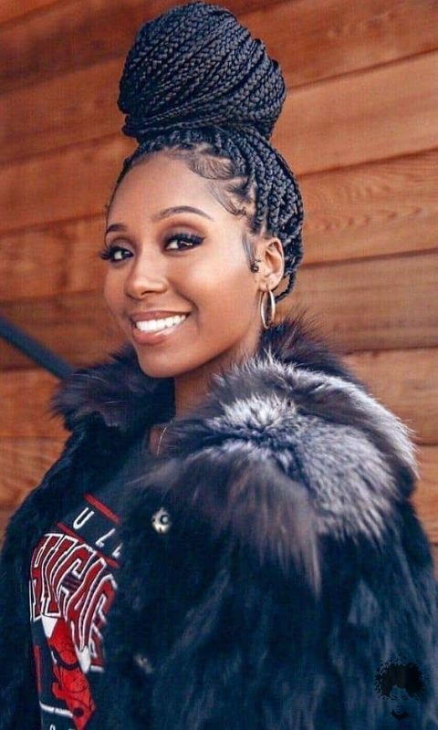 The Most Beautiful African Hair Braid Models You Can Use as a Bun 02
