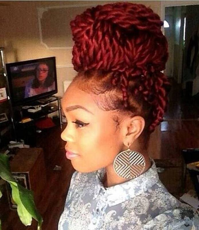 The Most Beautiful African Hair Braid Models You Can Use as a Bun 10