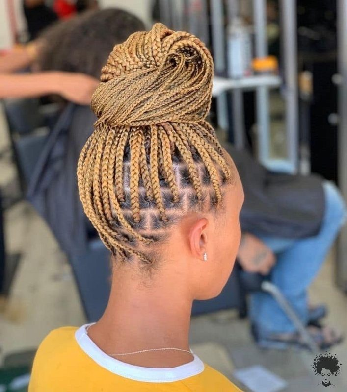 The Most Beautiful African Hair Braid Models You Can Use as a Bun 11
