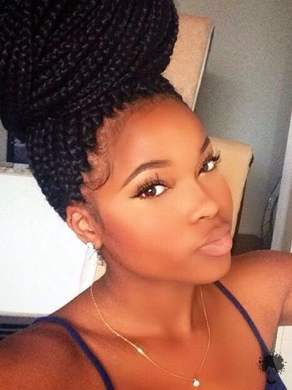 The Most Beautiful African Hair Braid Models You Can Use as a Bun 12
