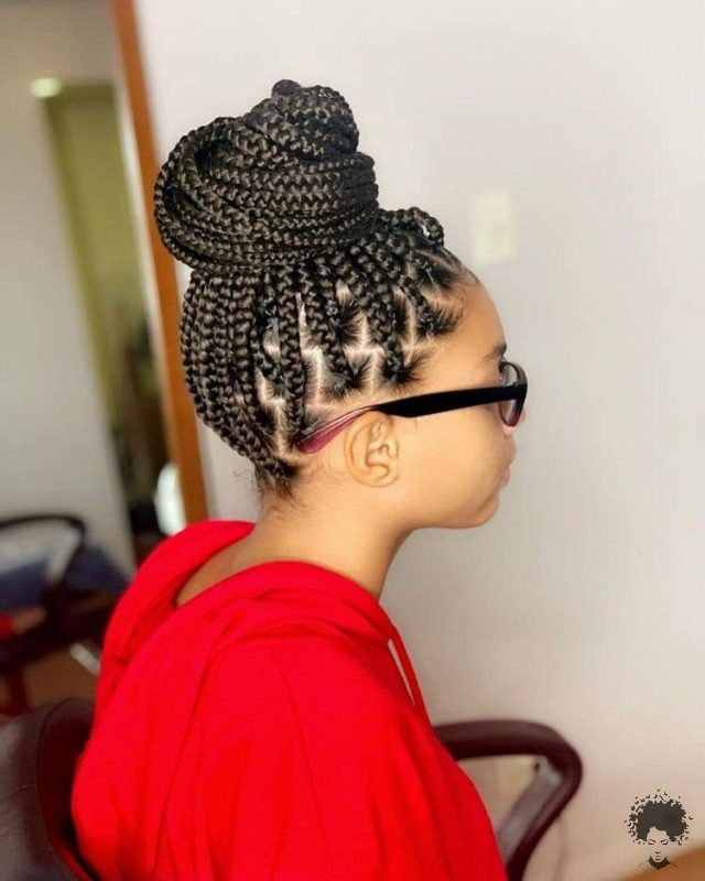 The Most Beautiful African Hair Braid Models You Can Use as a Bun 13