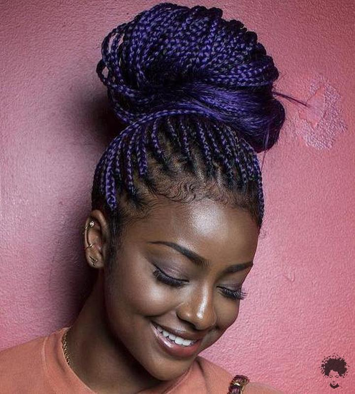 The Most Beautiful African Hair Braid Models You Can Use as a Bun 17