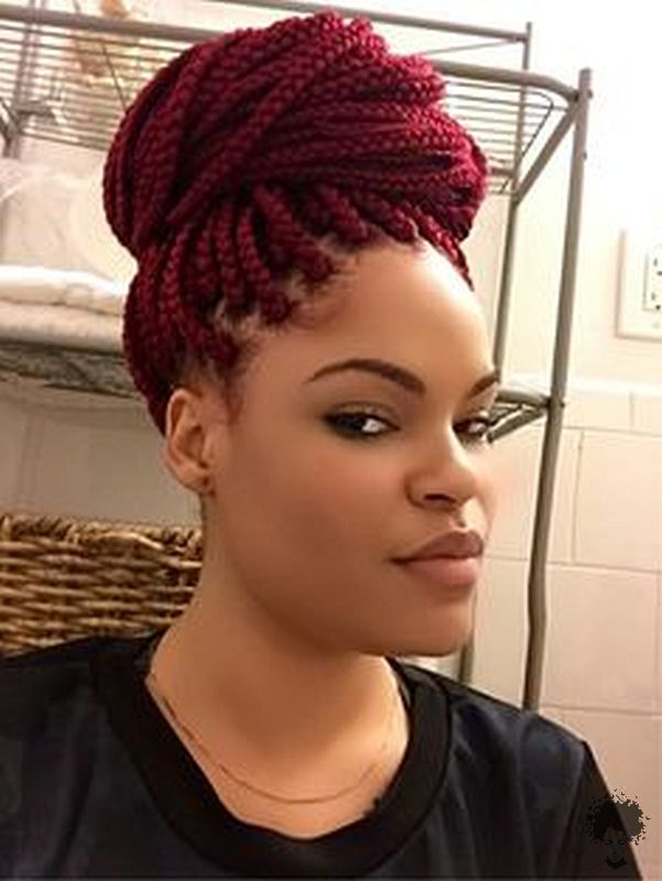 The Most Beautiful African Hair Braid Models You Can Use as a Bun 18