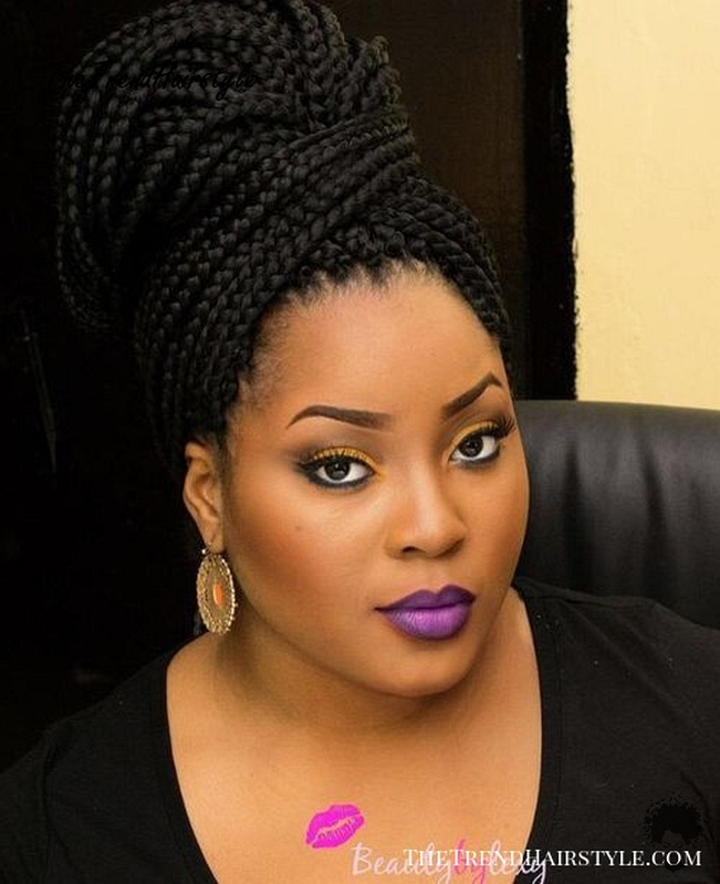 The Most Beautiful African Hair Braid Models You Can Use as a Bun 29