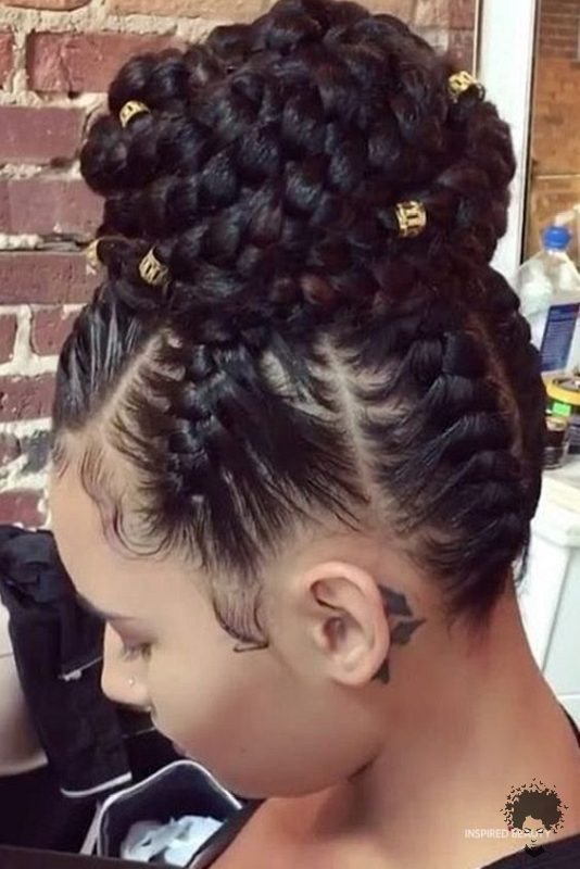The Most Beautiful African Hair Braid Models You Can Use as a Bun 33