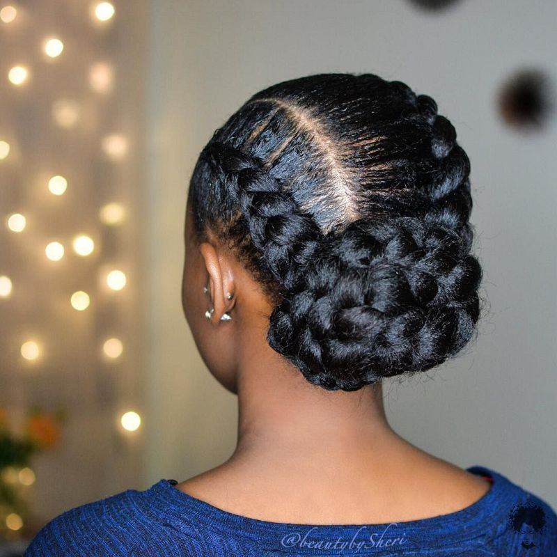 The Most Beautiful African Hair Braid Models You Can Use as a Bun 34