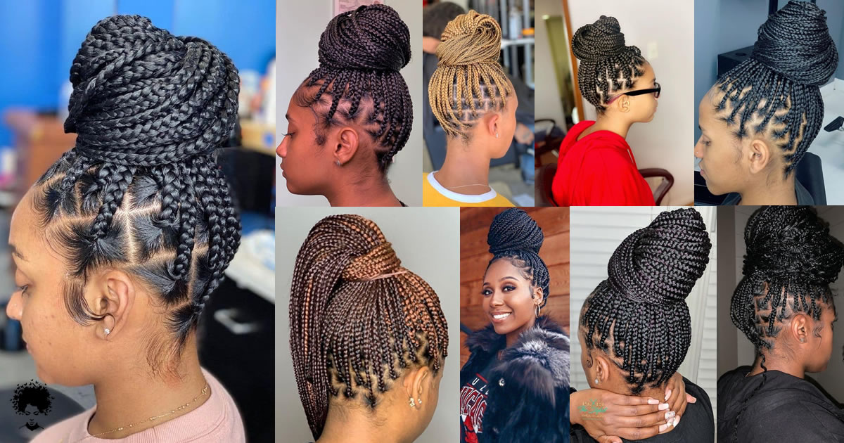 The Most Beautiful African Hair Braid Models You Can Use as a Bun