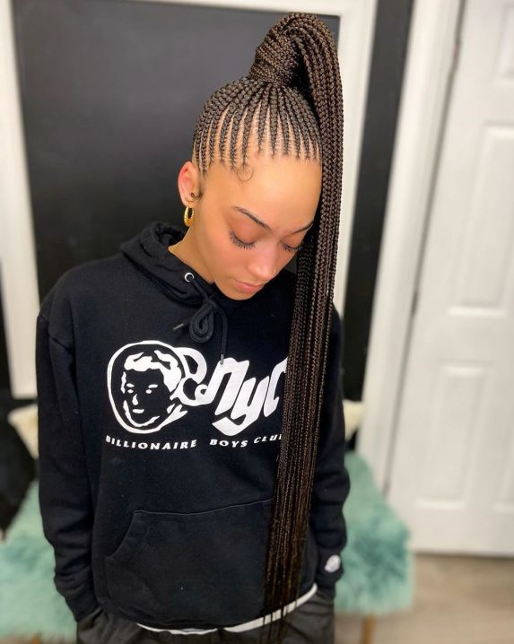28 cute cornrow ponytail B9EoltGFAk2
