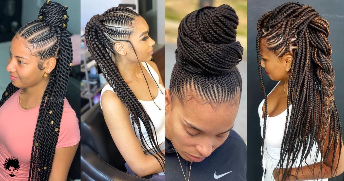 57 Superb Cornrow Braids Hairstyles That Rocks in 2021