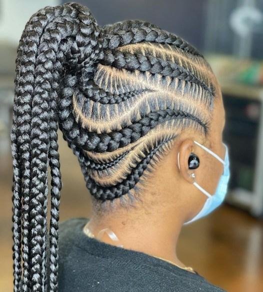 7 protective cornrow hairstyle